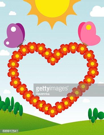 Corazón de tarjeta : Ilustración de stock