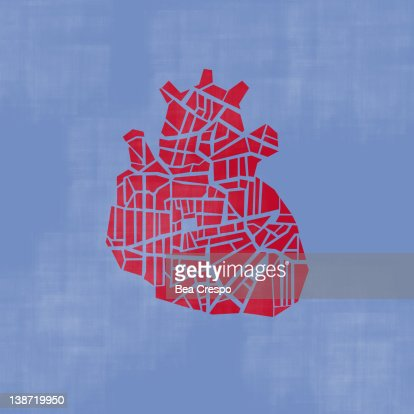 A heart on a blue background : Stock Illustration