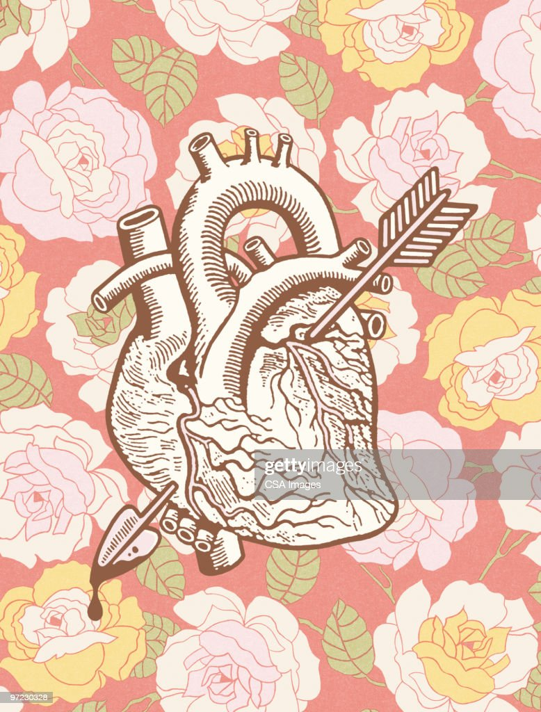 Heart with arrow : Stock Illustration
