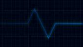 Blue heartbeat pulse on cardiogram screen, EKG ECG cardio healthcare concept