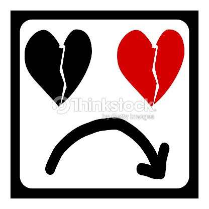 Heartbreak And Arrow Sad Love Symbol Stock Illustration Thinkstock