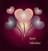 bunch of hearts for saint valentine's day
