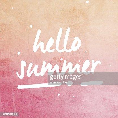 'Hello Summer' background : Stock Illustration