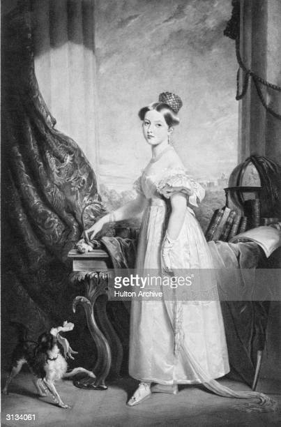Her Royal Highness Princess Victoria aged sixteen From a painting after Sir George Hayter at Windsor Castle