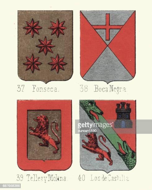 Heraldik vapensköld, Fonseca, Boca Negra, Molina, Castilla