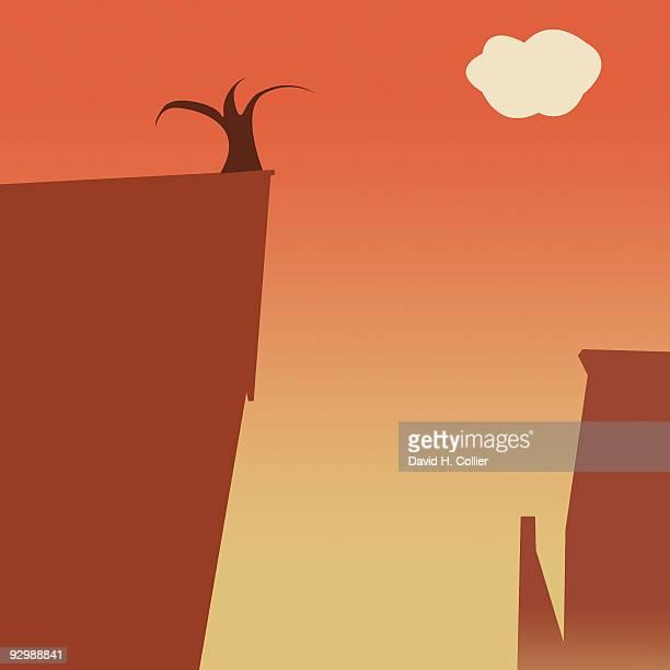 High Desert Cliffs and Tree