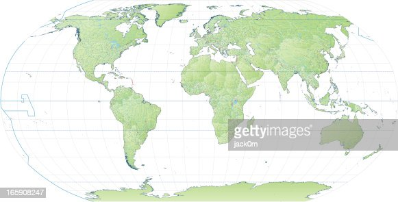 High detail world map robinson projection vector art getty images high detail world map robinson projection vector art gumiabroncs Image collections