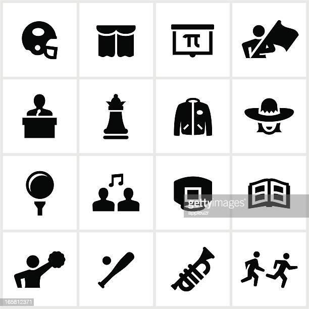 High School Sport und Clubs Symbole