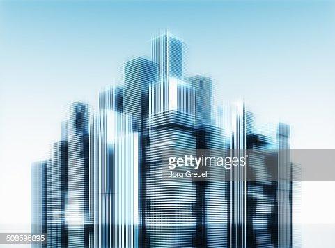 High-rise buildings : Stock Illustration