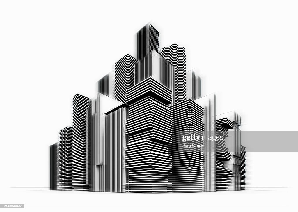 High-rise buildings : Stock Illustration