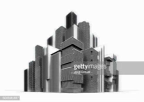 High-rise buildings : Ilustración de stock