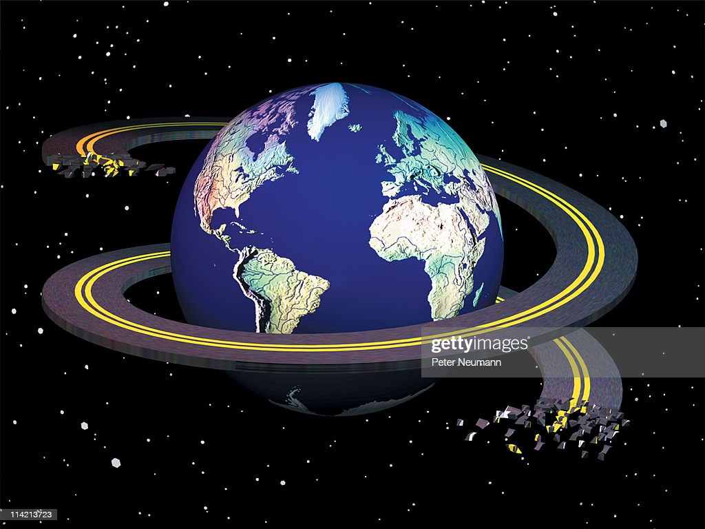 Highway Helix Around Earth Stock Illustration | Getty Images