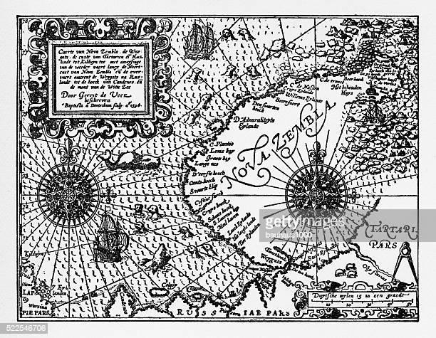 Historical Map of Dutch Navigators Artic Expedition
