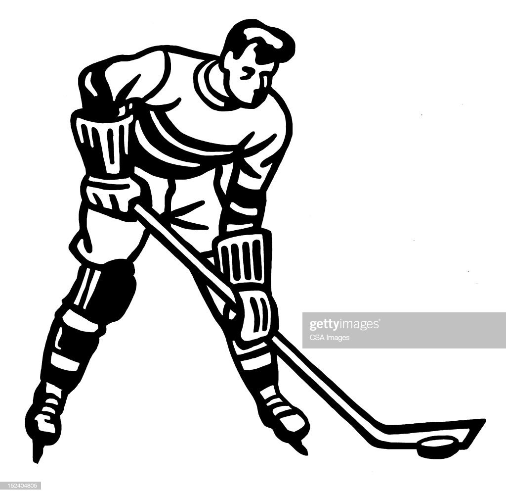 Hockey Player : Stock Illustration