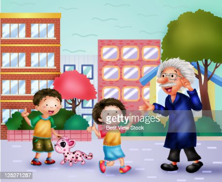 Home Sweet Home,Togetherness of Family : Stock Illustration