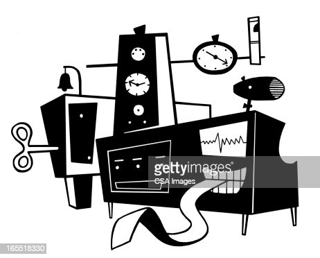 Homemade Device with Printout : Stock Illustration