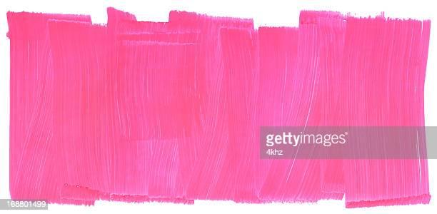 Honeysuckle Pink Painted Brush Stroke Texture Frame