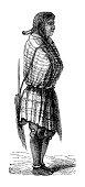 """""""Illustration of a Hopi woman. Published in Systematischer Bilder-Atlas zum Conversations-Lexikon, Ikonographische Encyklopaedie der Wissenschaften und Kuenste (Brockhaus Verlaghaus, Germany). A 1875"""