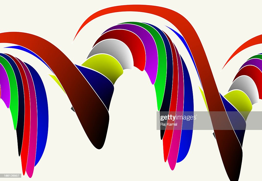 Horizontal Creative Shapes Abstract Design : Stock Illustration