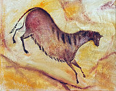 Hand drawing  - oil painting like cave painting