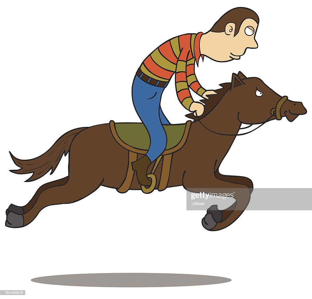 Horse Riding Vector Art