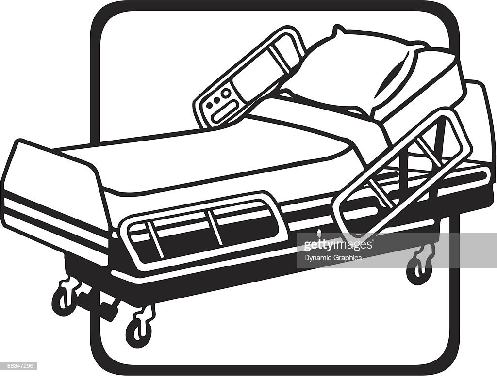 hospital bed grouped elements vector art thinkstock rh thinkstockphotos in patient hospital bed clipart hospital bed clipart images