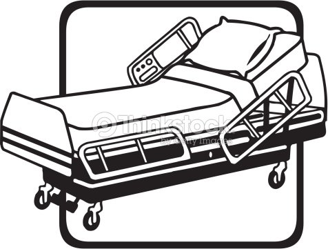 Hospital Bed Grouped Elements stock vector | Thinkstock