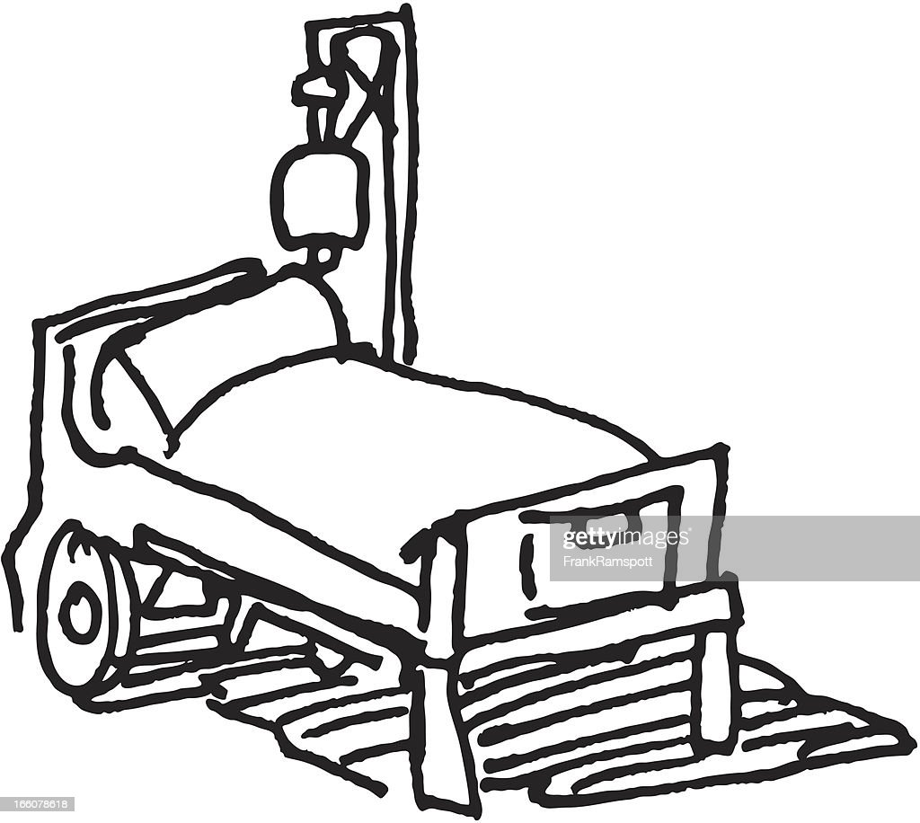 Hospital Bed Sketch Vector Art | Getty Images