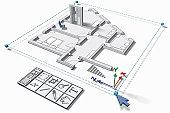 House design and computer symbols (Digital)