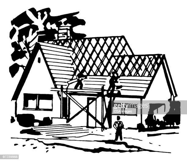 Ilustraciones de stock y dibujos de constructor de tejados - Dibujos de tejados ...