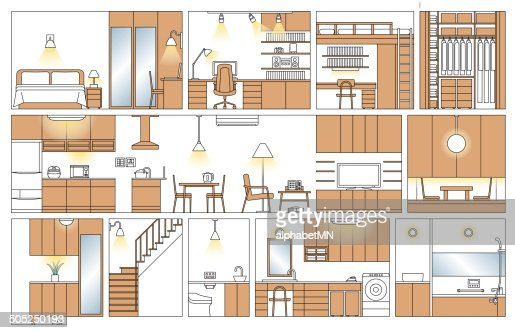 Traditional Japanese House/Apartment Floor Layout .