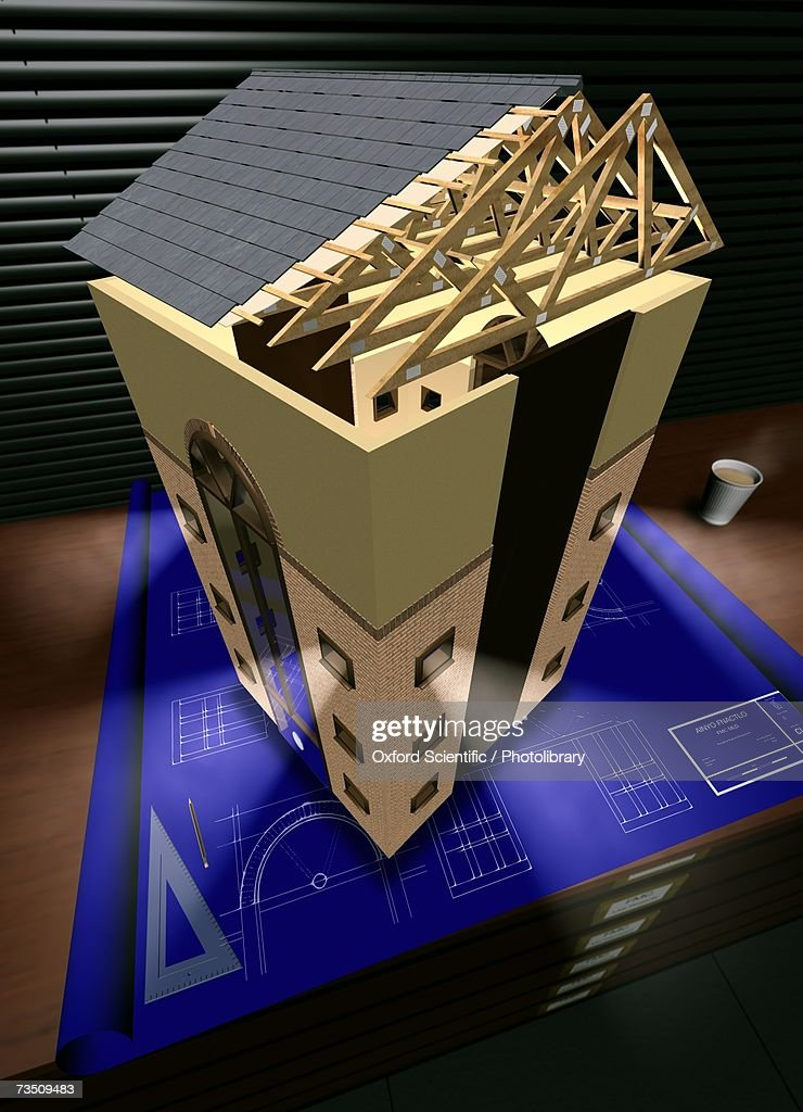 House Plan, computer generated image : Stock Illustration