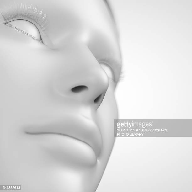 Human face, illustration