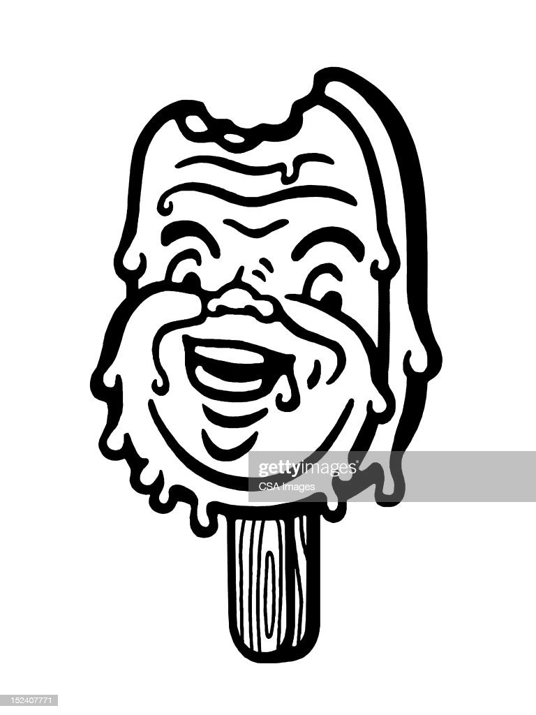 Ice Cream Treat Man : Stock Illustration