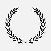 icon laurel wreath - illustration Black, dark icon laurel