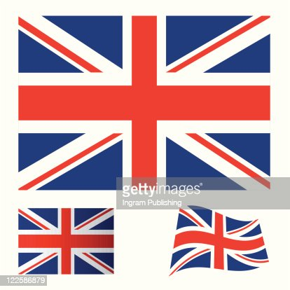 Illustrated collection of flag icon set for the United kingdom : Vector Art