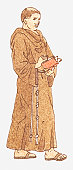 Illustration of a Franciscan monk