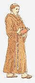 Illustration of a Franciscan monk