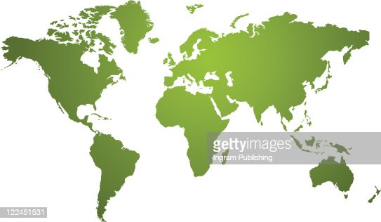 Illustration of a world map in two tone green ideal as a background : Vector Art