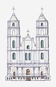 Illustration of Aglona Basilica, Latvia