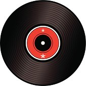 A illustration of an old fashioned lp or record