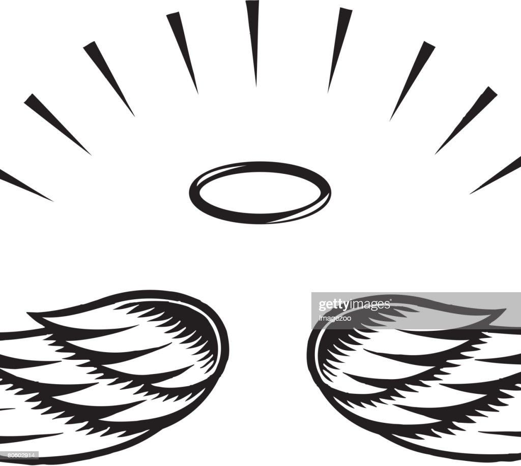 Illustration of angel wings : Vector Art