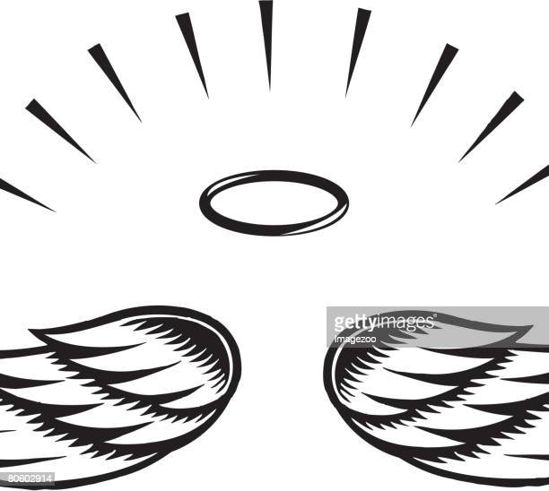 Illustration of angel wings
