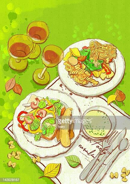 Illustrations et dessins anim s de cuisine italienne - Dessin anime de cuisine ...