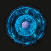 Illustration of Bohr model of the atom