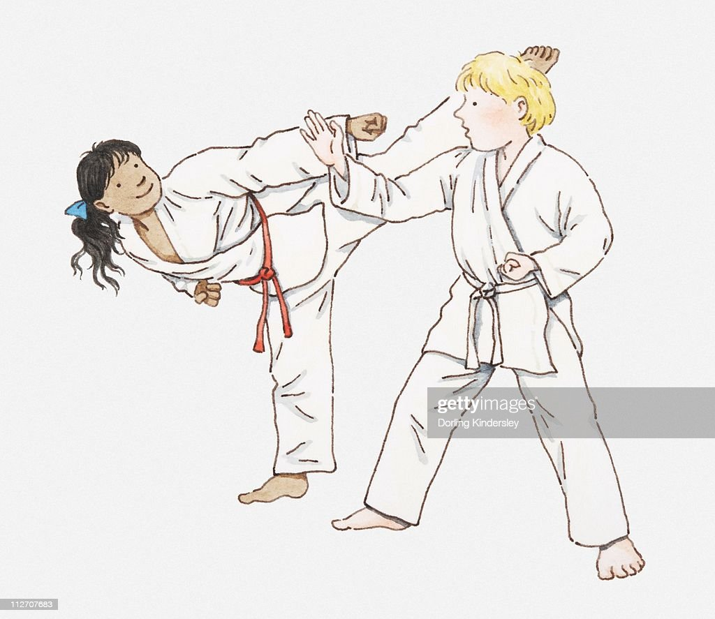 10,794 Karate Stock Vector Illustration And Royalty Free Karate ...
