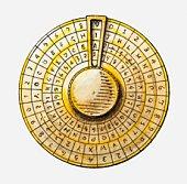 Illustration of cipher disc