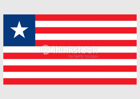 Illustration Of Flag Of Liberia With Eleven Red And White