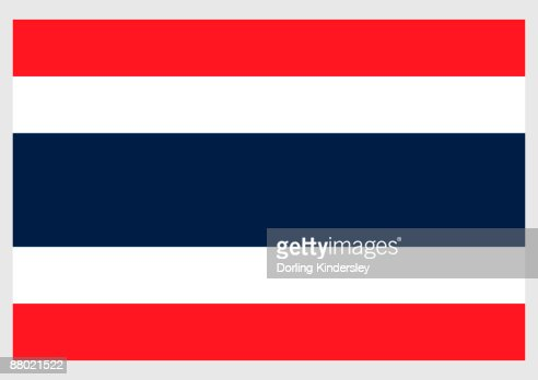 Illustration Of Flag Of Thailand With Five Horizontal Red