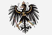 Illustration of German eagle crest